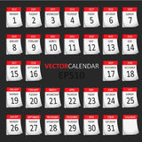 Wektoru kalendarz Fotografia Stock