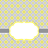 Wektoru Karciany szablon z ramą na Kwiecistym Ornamentacyjnym tle z przestrzenią dla Twój teksta Obrazy Stock