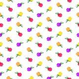 Wektoru kwiatu różany wzór royalty ilustracja