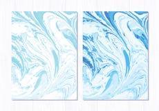 Wektoru marmurowy abstrakcjonistyczny tło Ciecza marmuru wzór Modny szablon Obraz Stock