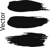 Wektoru muśnięcia uderzenie Zakłopotany sztandar Czerni paintbrush odosobniona kolekcja Nowożytny Textured kształt Suszy granicę  ilustracji
