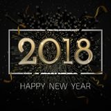 Wektoru 2018 nowego roku szczęśliwy świętowanie BG Obraz Stock