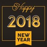 Wektoru 2018 nowego roku Szczęśliwy kartka z pozdrowieniami i tło Fotografia Stock