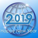 Wektoru 2019 nowego roku Szczęśliwy tło ilustracji