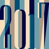Wektoru 2017 nowego roku Szczęśliwy tło kalendarzowa pokrywa, typograficzna wektorowa ilustracja Mieszkanie styl ilustracji