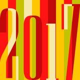 Wektoru 2017 nowego roku Szczęśliwy tło kalendarzowa pokrywa, typograficzna wektorowa ilustracja Płaski kolorowy projekt royalty ilustracja