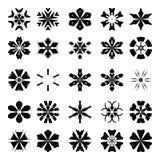Wektoru płatka śniegu ustaleni elementy fotografia stock