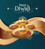 Wektoru papieru Diwali projekta szablon Zdjęcie Royalty Free
