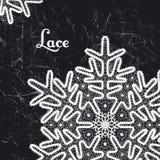 Wektoru płatka śniegu stylu koronkowego rocznika handmade koronka Zdjęcie Royalty Free