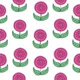 Wektoru różowy Kwiecisty bezszwowy deseniowy tło również zwrócić corel ilustracji wektora royalty ilustracja