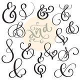 Wektoru rocznika ustalony znak I Ampersand na białym tle Kaligrafii literowania ilustracja EPS10 Zdjęcia Royalty Free