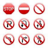 Wektoru ruchu drogowego juczny znak Fotografia Royalty Free