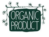 Wektoru szyldowy Organicznie produkt które pokazują pomysł ekologia, naturality i świeżość, ilustracja wektor