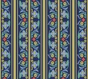 Wektoru tła ślimakowatego vortex krzywy adamaszkowy bezszwowy deseniowy cr Zdjęcia Royalty Free