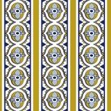 Wektoru tła owalu krzywy adamaszkowy bezszwowy deseniowy krzyż round Zdjęcie Stock