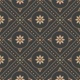 Wektoru tła round geometrii czeka krzyża ramy kropki linii adamaszkowy bezszwowy retro deseniowy kwiat Elegancki luksusowy brązu  ilustracji