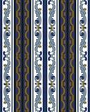 Wektoru tła spirali krzywy adamaszkowy bezszwowy deseniowy krzyż błękitny ilustracji