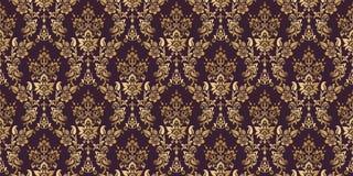 Wektoru t?o adamaszkowy bezszwowy deseniowy Elegancka luksusowa tekstura dla tapet, t?a i strona, wype?niamy kwiecisty royalty ilustracja