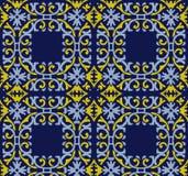 Wektoru tła spirali krzywy kwadrata adamaszkowy bezszwowy deseniowy cr Fotografia Royalty Free