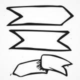 Wektoru trzy znaki ręki, ręka rysująca Zdjęcia Royalty Free