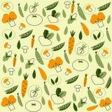 Wektoru wzór bezszwowy tło z warzywami Fotografia Royalty Free