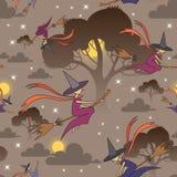 Wektoru wzór z kreskówki Halloween symbolami Zdjęcia Royalty Free