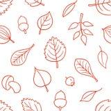 Wektoru wzór z liśćmi Bezszwowy jesień ornament Sezon jesienny tło ilustracja wektor