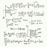 Wektoru wzór z matematycznie formułami Zdjęcie Stock