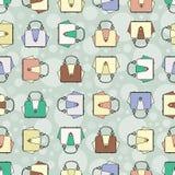 Wektoru wzór z mod kolorowymi torebkami Obraz Stock