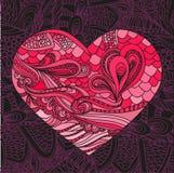 Wektoru wzór z sercami, kwitnie i gra główna rolę Zdjęcia Royalty Free