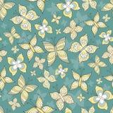 Wektoru wzór z stylizowanymi motylami Zdjęcia Royalty Free