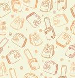 Wektoru wzór z torbami, walizkami i plecakami, royalty ilustracja