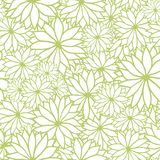 Wektoru zieleni i białego kwiecisty bezszwowy wzór ilustracji
