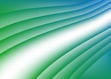 Wektoru zielony błękitny tło Obrazy Royalty Free