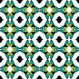 Wektoru Zielony Czarny Motyli Plemienny Bezszwowy Zdjęcia Royalty Free