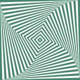 Wektoru zielony i biały abstrakcjonistyczny złudzenia tło Ilustracja Wektor