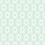 Wektoru zielony ornamentacyjny wzór - bezszwowy royalty ilustracja