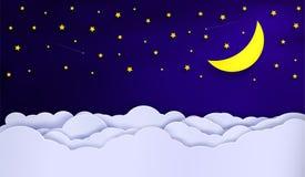 Wektory niebo podczas nocy ilustracji