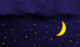 Wektory niebo podczas nocy royalty ilustracja