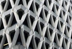 Welbeck Steet停车场具体门面在伦敦 免版税图库摄影