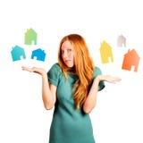 Welches Haus zu wählen? Stockfoto
