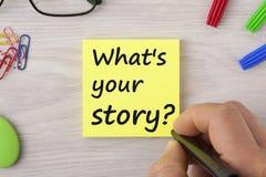 Welches ` s Ihr Geschichtenkonzept lizenzfreie stockfotos