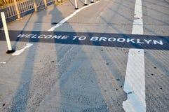 welcom的布鲁克林 免版税库存照片