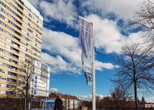 Welcom города Kehl сигнализирует небо agains голубое Стоковые Изображения RF