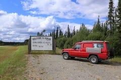Welcom aan Yukon stock fotografie