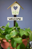 Welcom home sign Stock Photography
