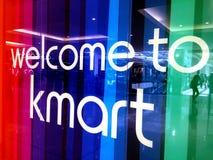 Welcom till det Kmart tecknet royaltyfri bild