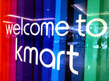 Welcom to Kmart sign Royalty Free Stock Image
