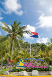 Welcom to St Maarten and Flag Royalty Free Stock Photos