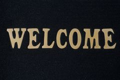 Welcom word. Background is black royalty free stock images